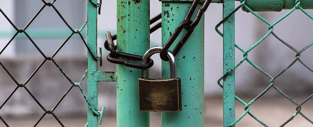 Vorhängeschloss für Sicherheit