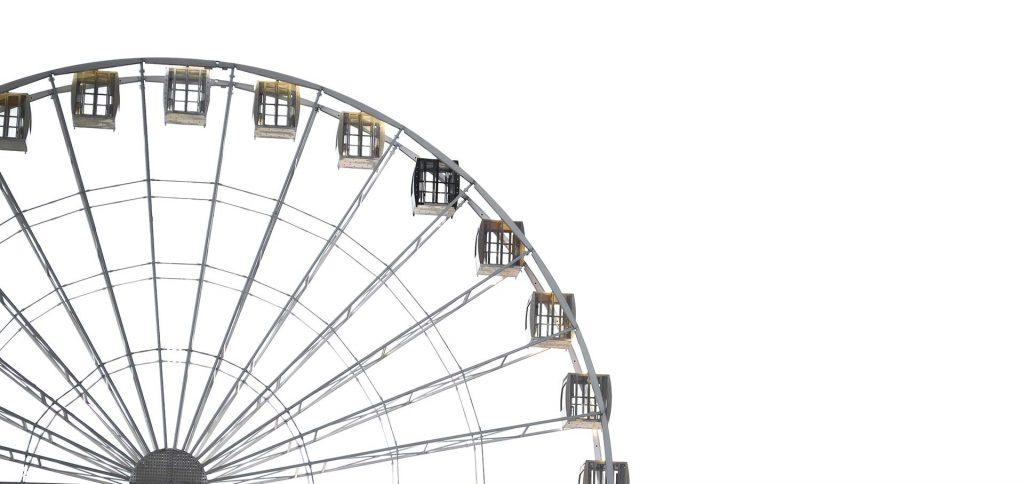 Lebensrad - Riesenrad, die Form ist gleich