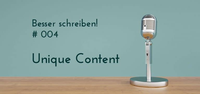 unique content podcast Beitrag