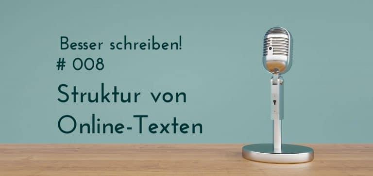 podcast struktur online texte