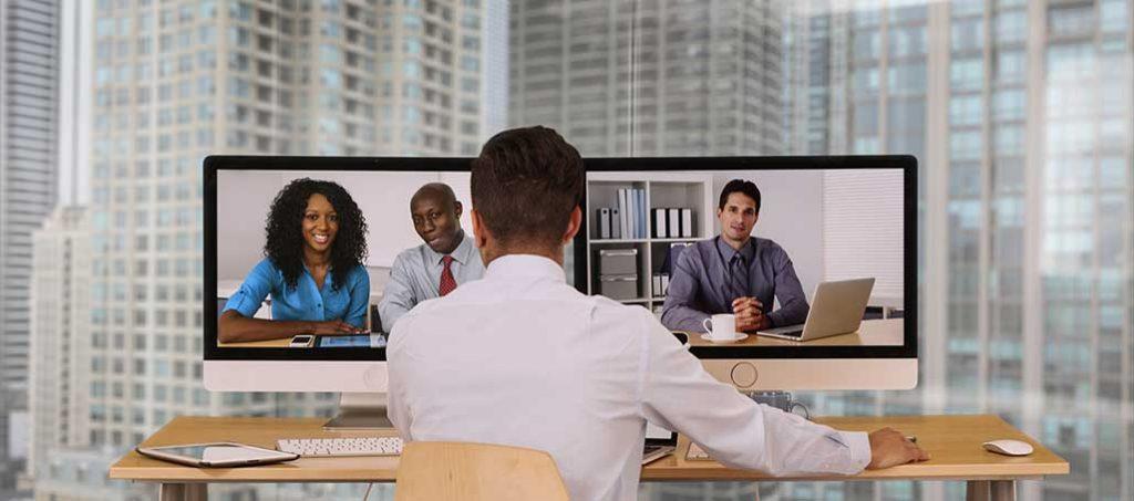 Videokonferenz statt meeting