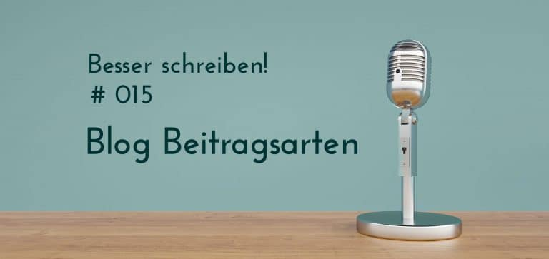 Podcast Beitragsarten Blog
