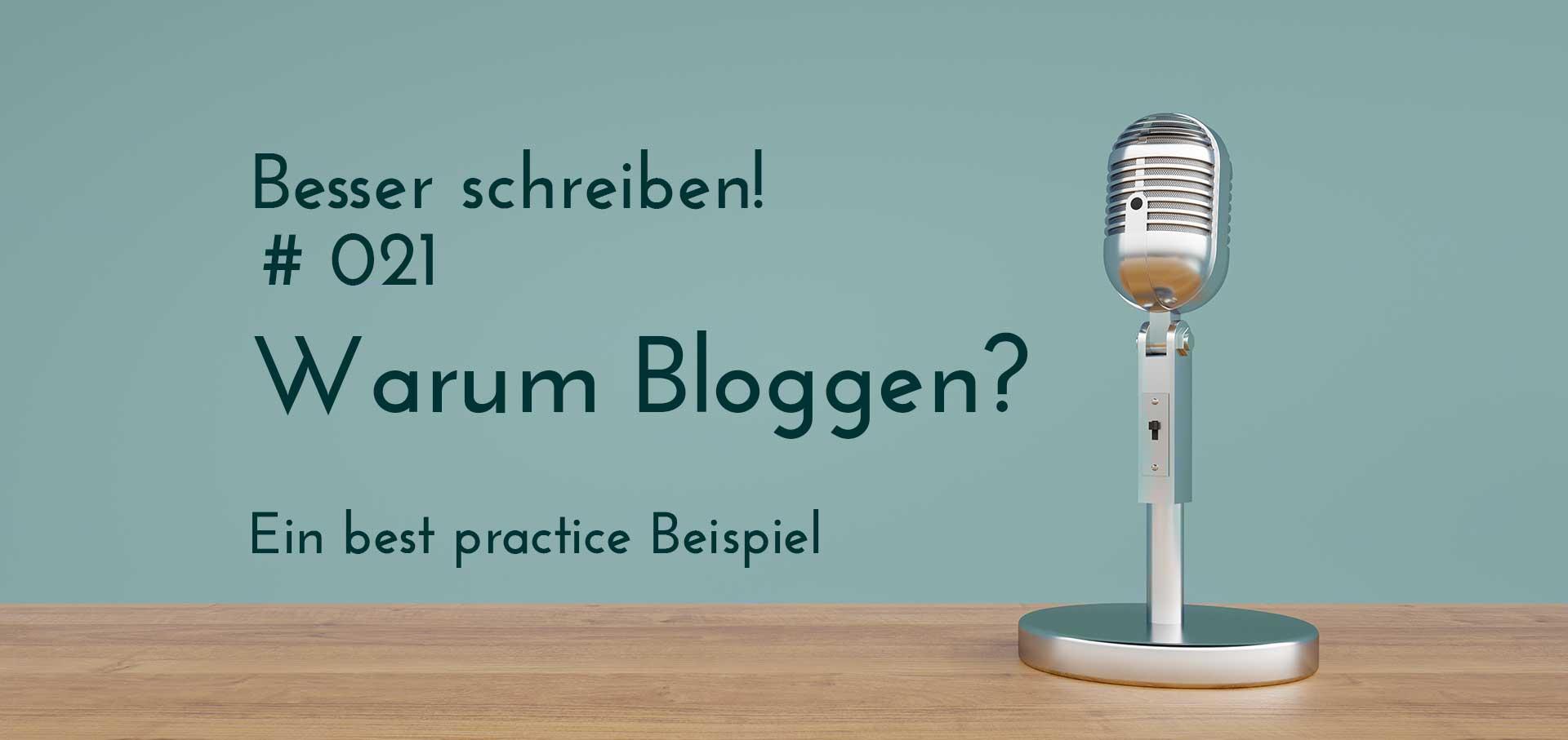 warum bloggen? best pracitice