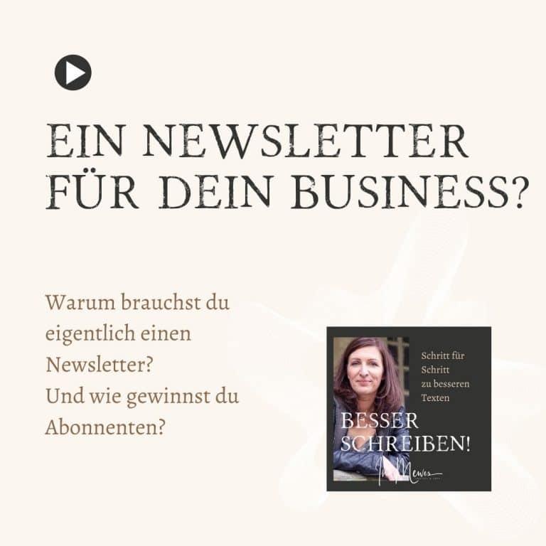 Ein Newsletter für dein Business?