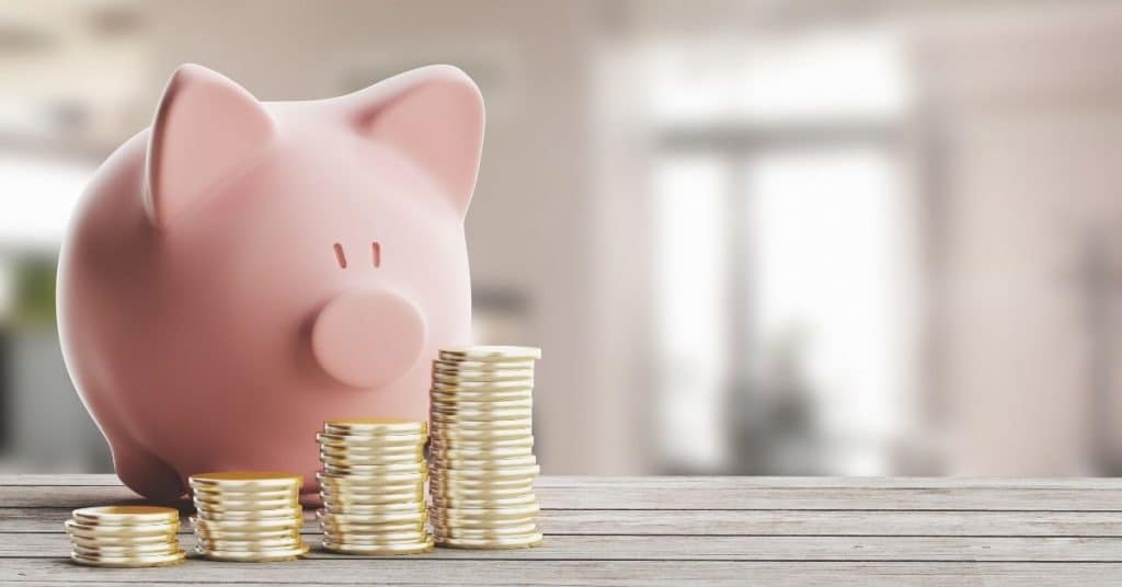 Sparschwein mit Geld